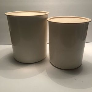 Tupperware One Touch Canisters (2) Pink